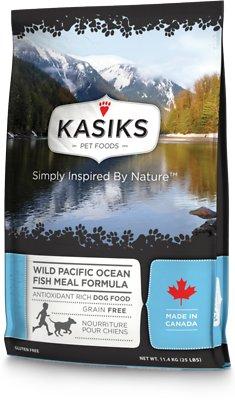 KASIKS Wild Pacific Ocean Fish Meal Formula Grain-Free Dry Dog Food, 25-lb