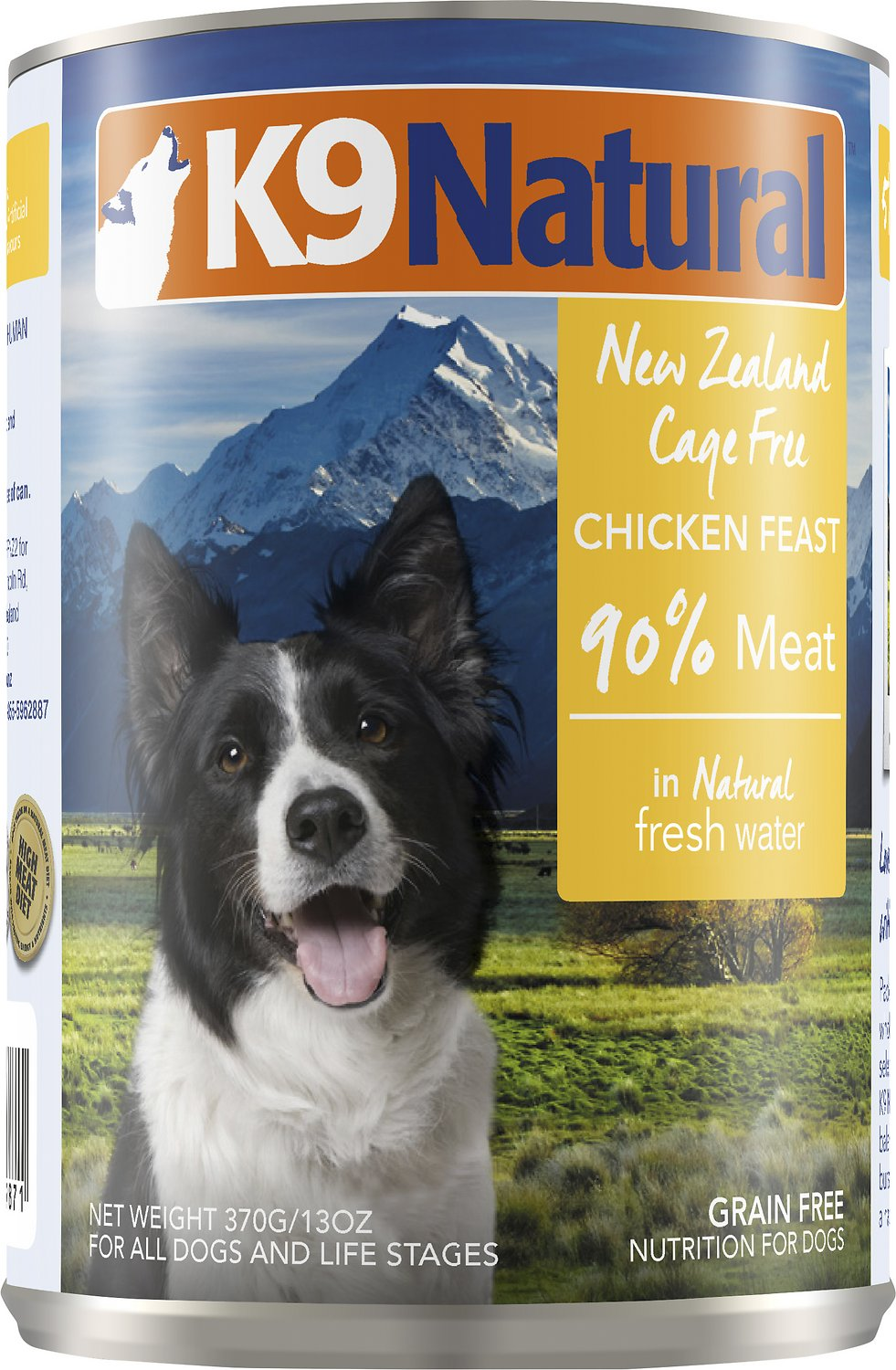 K9 Natural Chicken Feast Grain-Free Wet Dog Food, 13-oz can