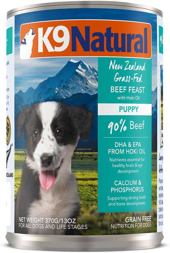 K9 Natural Puppy Beef Feast Grain-Free Wet Dog Food, 13-oz