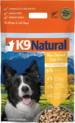 K9 Natural Chicken Feast Grain-Free Freeze-Dried Dog Food, 4-lb