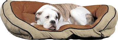 K&H Pet Products Bolster Couch Pet Bed, Mocha/Tan, Large