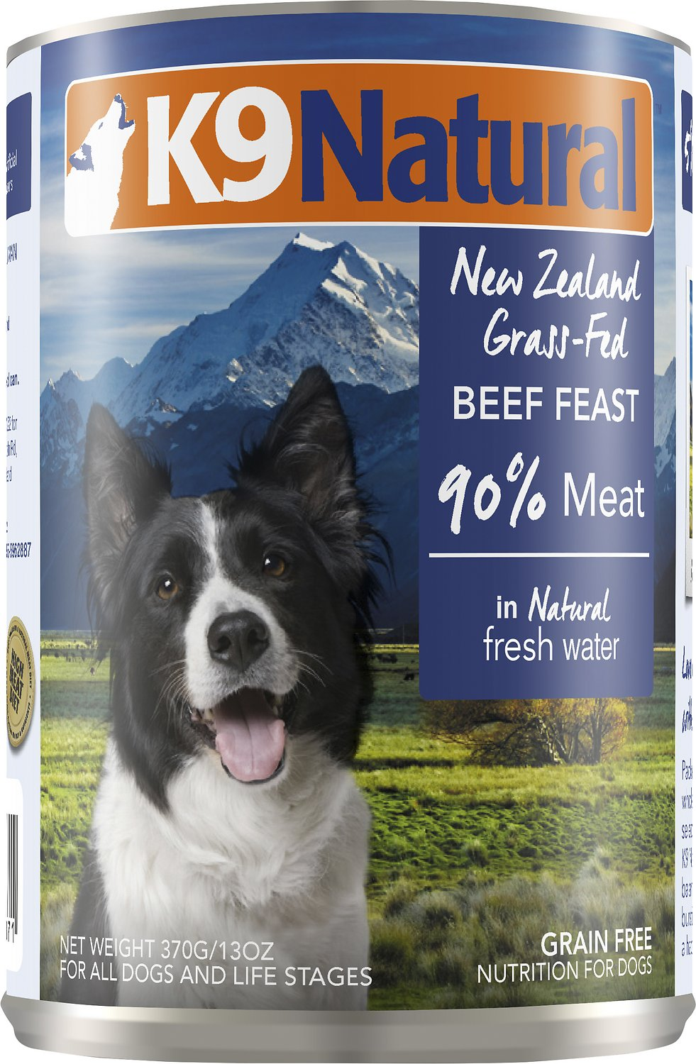 K9 Natural Beef Feast Grain-Free Canned Dog Food, 13-oz