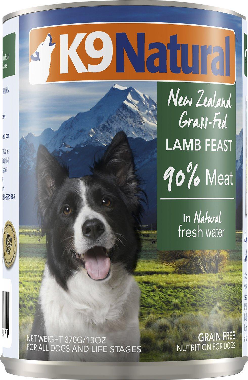 K9 Natural Lamb Feast Grain-Free Canned Dog Food, 13-oz