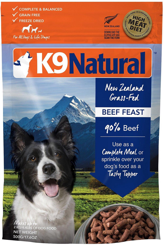 K9 Natural Beef Feast Grain-Free Freeze-Dried Dog Food, 1.1-lb