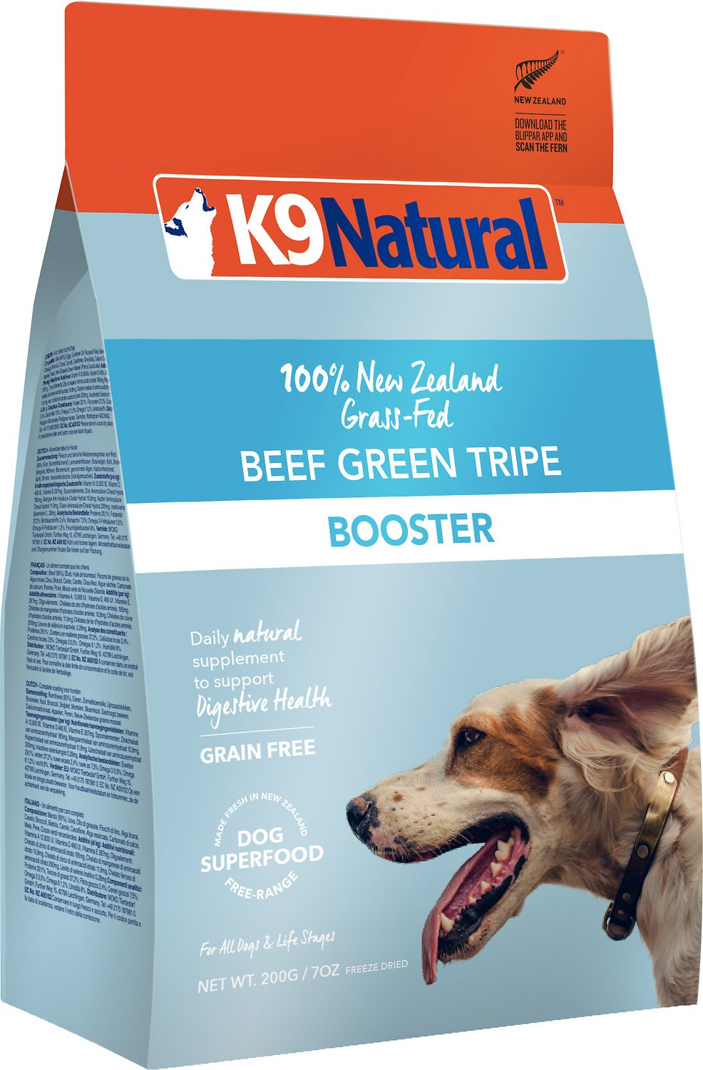 K9 Natural Booster Beef Green Tripe Grain-Free Freeze-Dried Dog Supplement, 8.8-oz bag (Weights: 8.8 ounces) Image