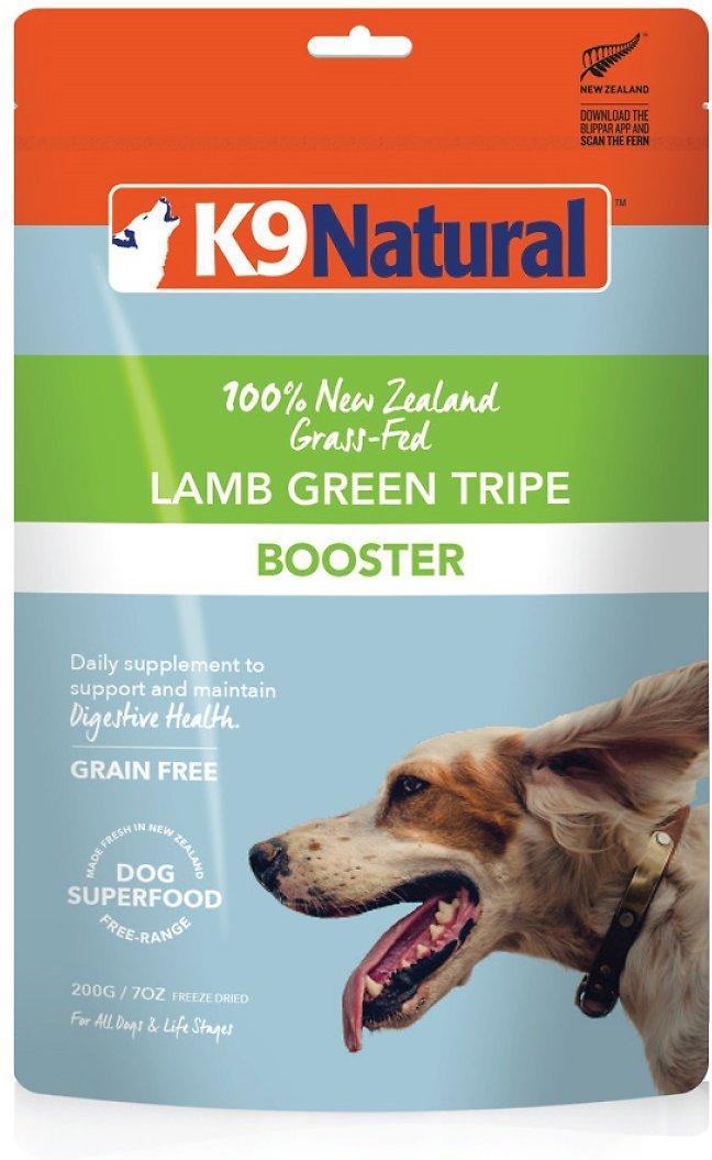 K9 Natural Lamb Green Tripe Booster Freeze-Dried Dog Food Topper, 7-oz bag