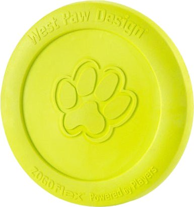 West Paw Zogoflex Zisc Dog Toy, Granny Smith Image