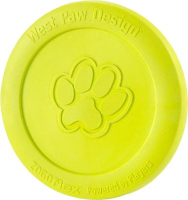 West Paw Zogoflex Zisc Dog Toy, Granny Smith, Large