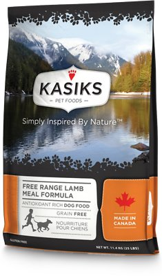 KASIKS Free Range Lamb Meal Formula Grain-Free Dry Dog Food, 25-lb
