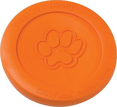 West Paw Zogoflex Zisc Dog Toy, Tangerine, Large