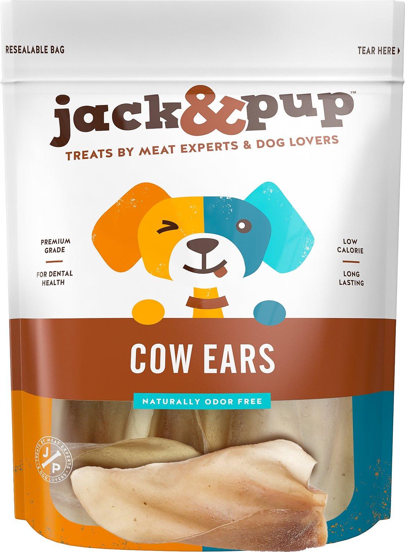 Jack&Pup Cow Ear Dog Treats, 15-count