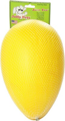 Jolly Pets Jolly Egg Dog Toy, Yellow, 12-in