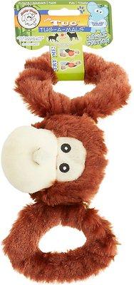 Jolly Pets Tug-a-Mals Monkey Dog Toy, Small