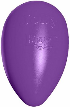 Jolly Pets Jolly Egg Dog Toy, Purple, 12-in