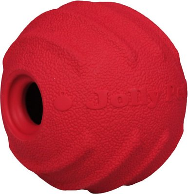 Jolly Pets Tuff Tosser Dog Toy, Red, 4-in
