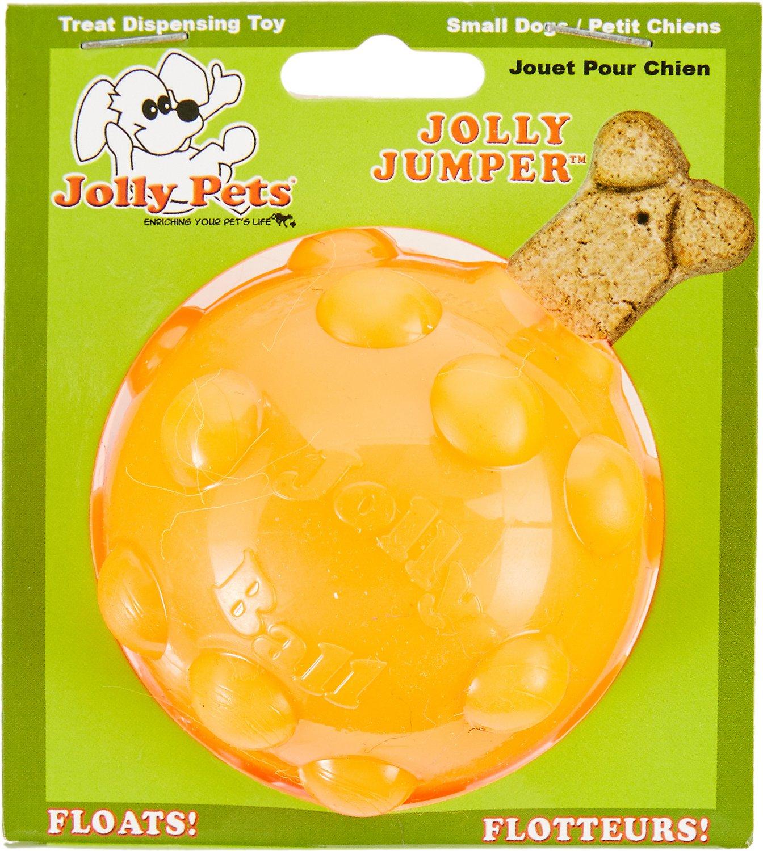 Jolly Pets Jolly Jumper Ball Dog Toy, Orange, 4-in