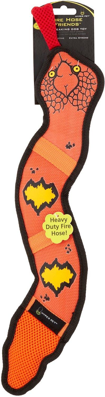 Hyper Pet Firehose Friends Snake Dog Toy, Color Varies