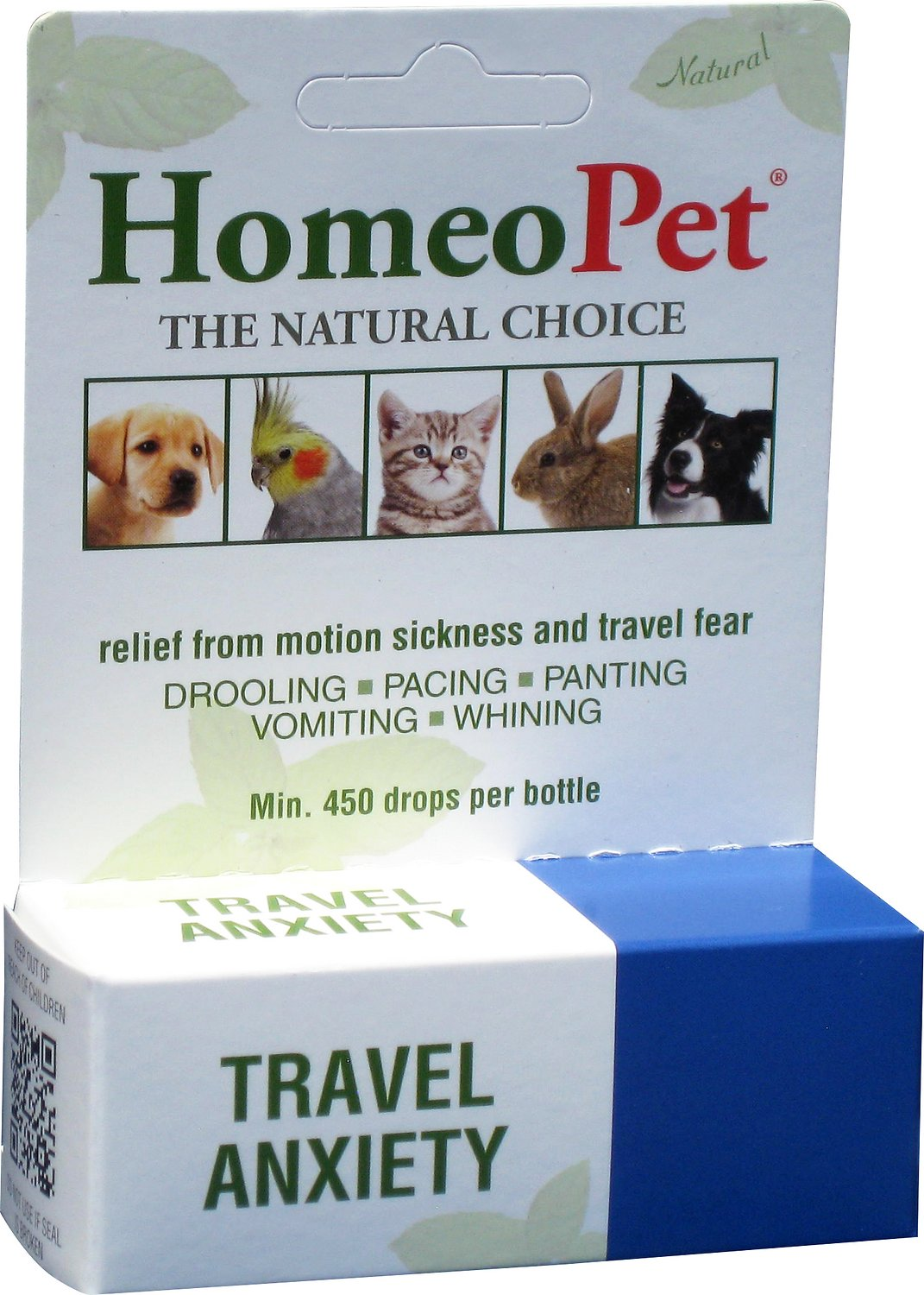 HomeoPet Travel Anxiety Dog, Cat, Bird & Small Animal Supplement, 450 drops