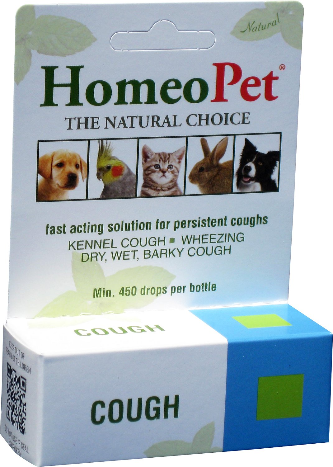 HomeoPet Cough Dog, Cat, Bird & Small Animal Supplement, 450 drops