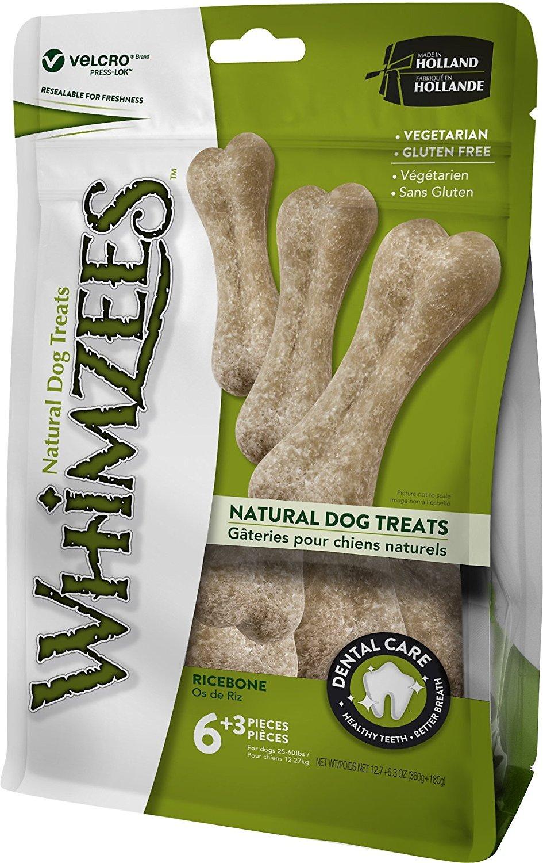 WHIMZEES Rice Bone Dental Dog Treats, 9 count Image