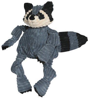 HuggleHounds Knottie Raccoon Dog Toy, Large