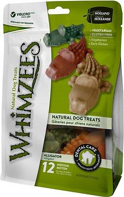 WHIMZEES Alligator Dental Dog Treats, Medium, 12 count
