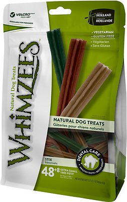 WHIMZEES Stix Dental Dog Treats, X-Small, 56 count