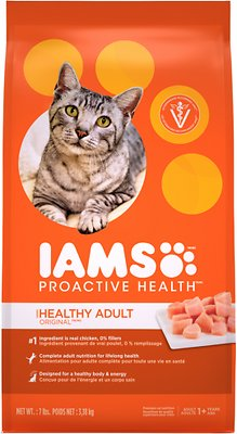 Iams ProActive Health Healthy Adult Original with Chicken Dry Cat Food, 7-lb bag
