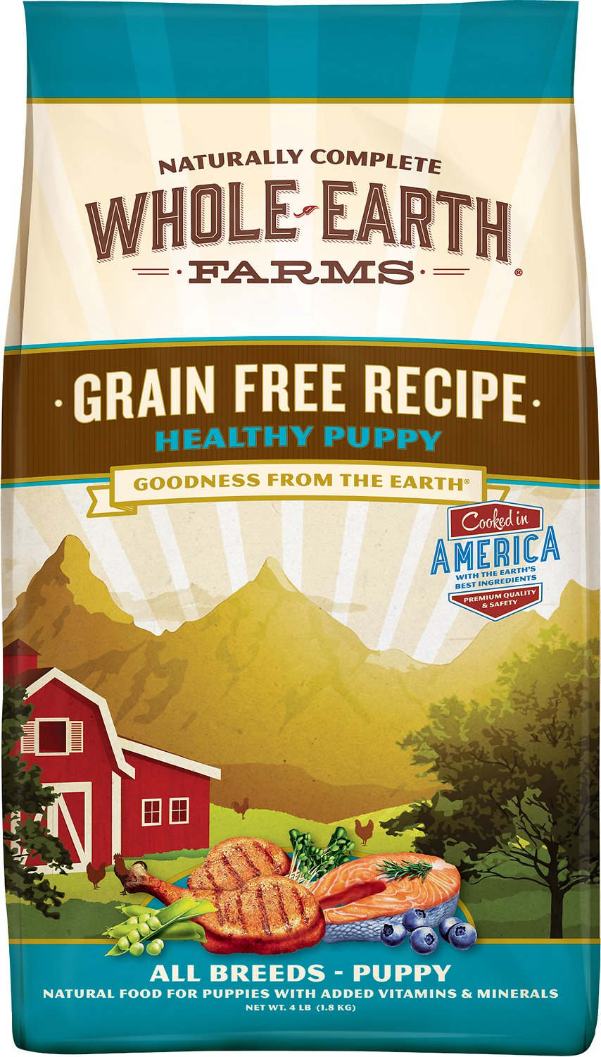 Whole Earth Farms Healthy Puppy Recipe Grain-Free Dry Dog Food Image