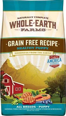 Whole Earth Farms Healthy Puppy Recipe Grain-Free Dry Dog Food, 4-lb bag