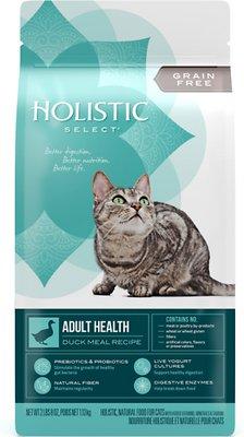 Holistic Select Adult Health Duck Meal Recipe Dry Cat Food, 2.5-lb bag
