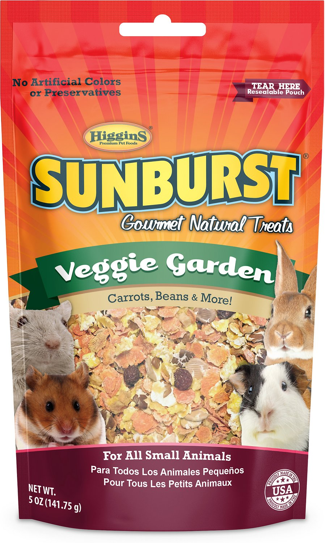 Higgins Sunburst Veggie Garden Gourmet Treats for Small Animals, 5-oz