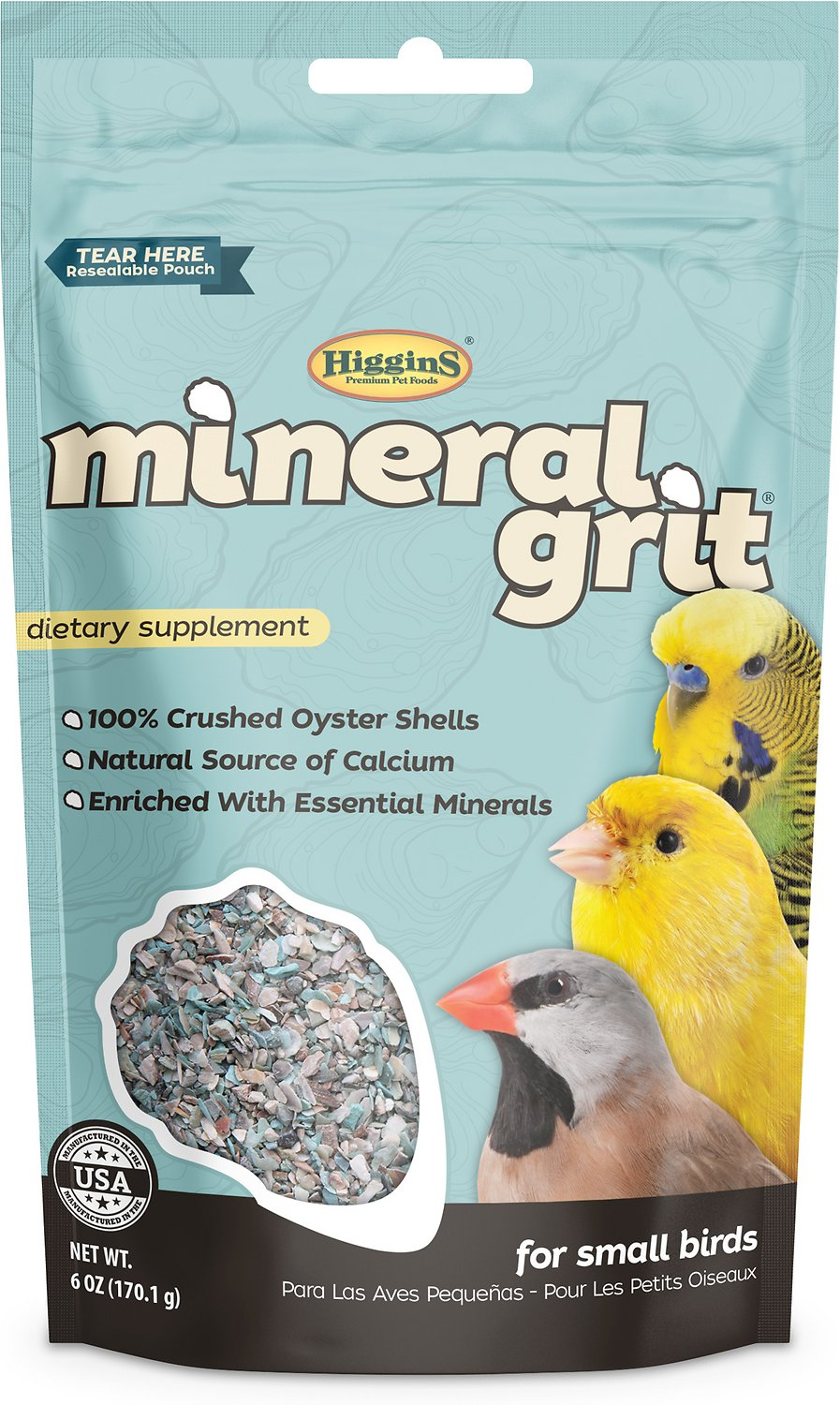 Higgins Mineral Grit Small Bird Supplement, 6-oz bag (Weights: 6ounces) Image