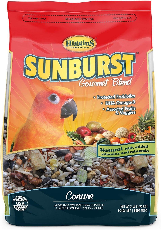 Higgins Sunburst Gourmet Blend Conure Bird Food, 3-lb bag