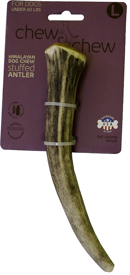 Himalayan Chew & Chew Cheese Stuffed Antler Dog Treat Image