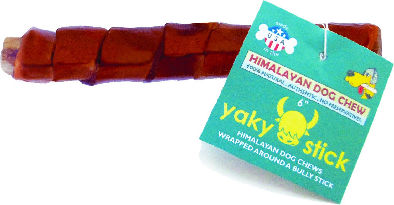 """Himalayan Dog Chew 6"""" Yaky Stick Bully Stick Dog Treat"""