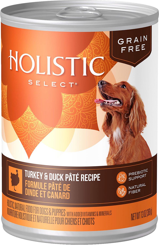 Holistic Select Turkey & Duck Pate Recipe Grain-Free Canned Dog Food, 13-oz