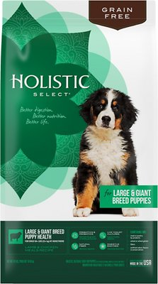 Holistic Select Large & Giant Breed Puppy Lamb & Chicken Meals Natural Grain Free Dry Dog Food, 24-lb