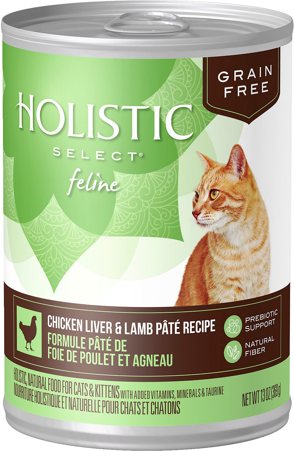 Holistic Select Chicken Liver & Lamb Pate Recipe Grain-Free Canned Cat & Kitten Food, 5.5-oz