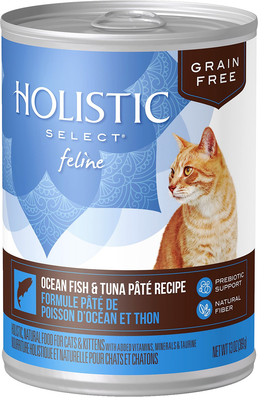Holistic Select Ocean Fish & Tuna Pate Recipe Grain-Free Canned Cat & Kitten Food, 5.5-oz