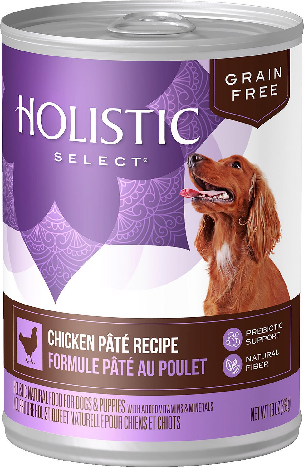 Holistic Select Chicken Pate Recipe Grain-Free Canned Dog Food, 13-oz