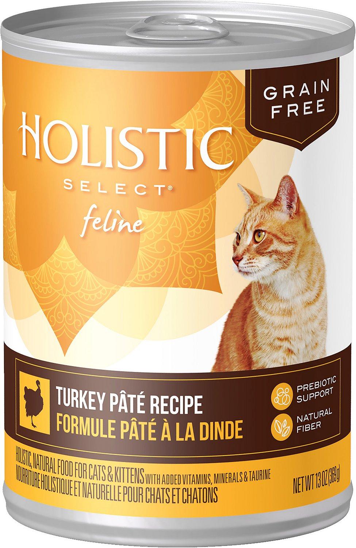 Holistic Select Turkey Pate Recipe Grain-Free Canned Cat & Kitten Food, 5.5-oz