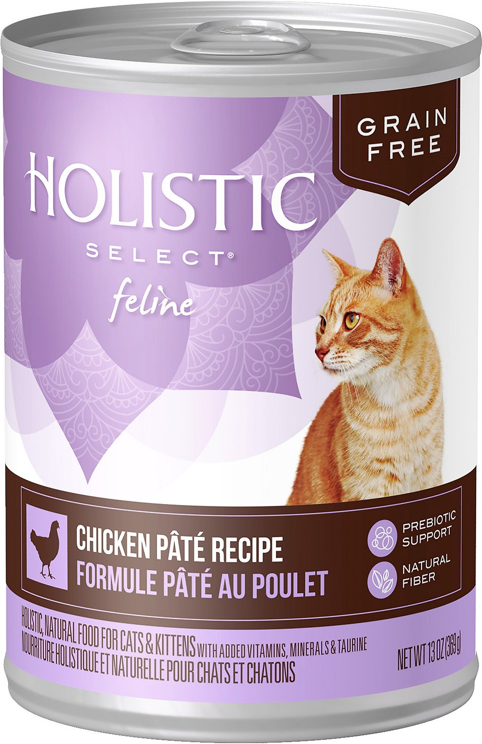 Holistic Select Chicken Pate Recipe Grain-Free Canned Cat & Kitten Food, 5.5-oz