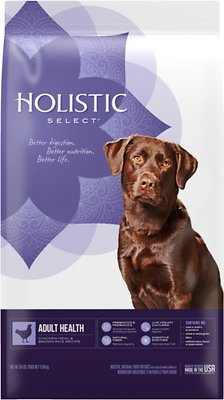 Holistic Select Adult Health Chicken Meal & Brown Rice Recipe Dry Dog Food, 30-lb bag