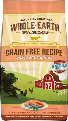 Whole Earth Farms Grain-Free Real Salmon Recipe Dry Cat Food, 5-lb bag