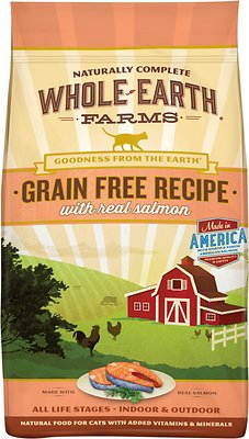 Whole Earth Farms Grain-Free Real Salmon Recipe Dry Cat Food, 2.5-lb bag
