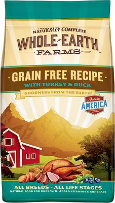 Whole Earth Farms Grain-Free Turkey & Duck Dry Dog Food, 4-lb bag