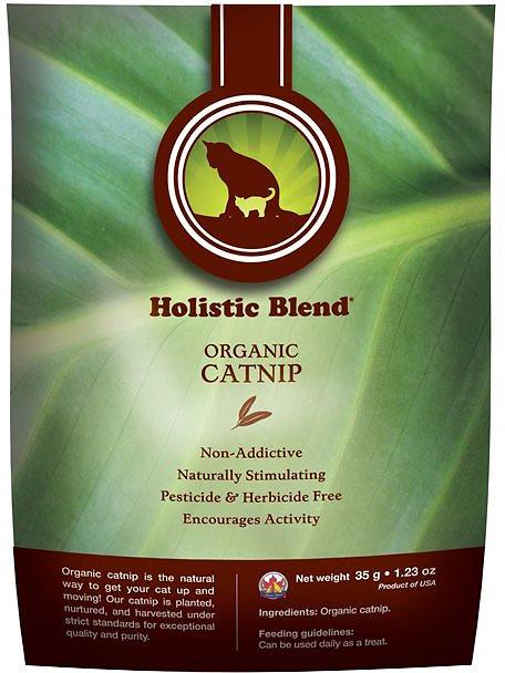 Holistic Blend Organic Catnip for Cats, 1.23-oz bag