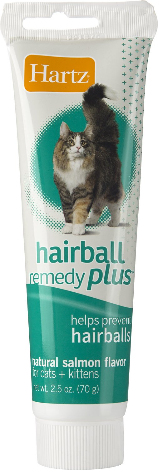 Hartz Hairball Remedy Plus Salmon Flavor Paste for Cats & Kittens, 2.5-oz tube
