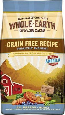 Whole Earth Farms Grain-Free Healthy Weight Dry Dog Food, 12-lb bag